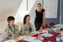 Christina, Mirjam und Hanna. Hanna ist unsere Hauptamtliche Referentin für den Freiwilligendienst bei der DPSG