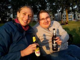 Dani und ich am letzten Abend. Dani war meine Projektpatenin bei meinem WBK.