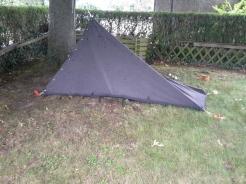 Das Zelt in Thorstens Garten