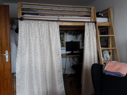 Mein Bett bei Thorsten :)