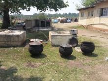 Das sind Pots in dem das typische Maismeal (pap) gekocht wird