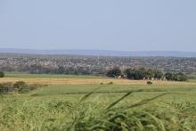 Ein Township vom weitem